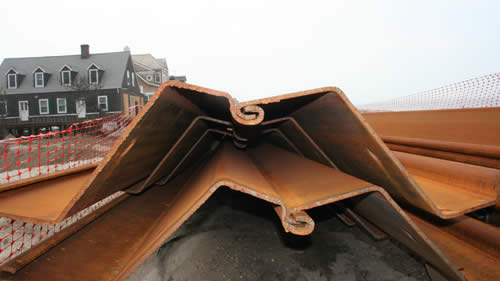 <p>45-foot long SKZ sheets manufactured using A690 marine grade steel</p>